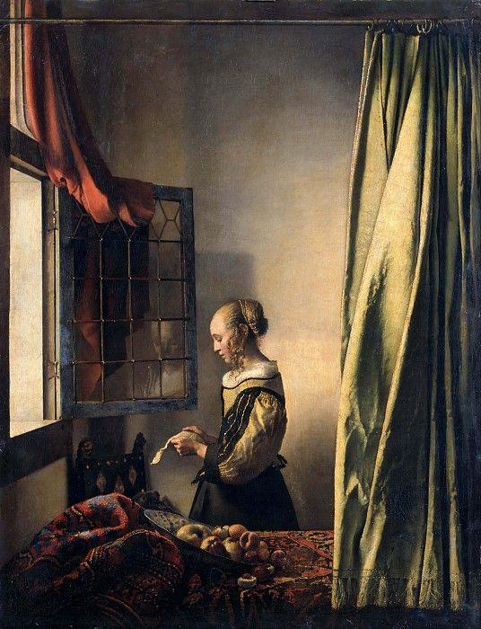 Девушка, читающая письмо у открытого окна. Ян Вермеер
