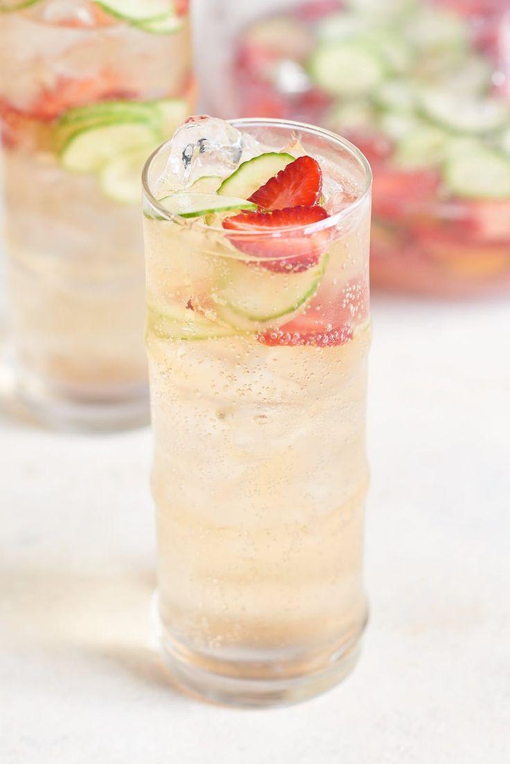 Recipe: Sparkling Strawberry Cucumber Sangria — Pitcher Cocktails