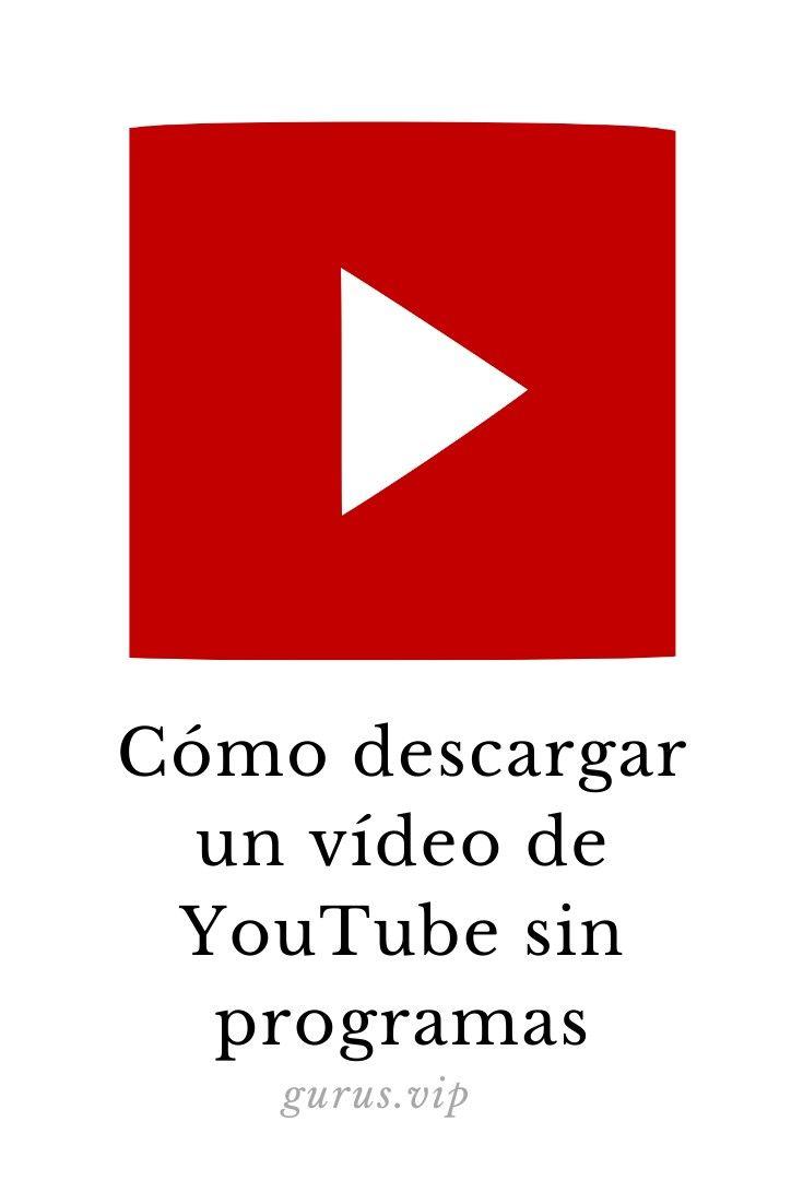 Como Descargar Un Vídeo De Youtube Sin Programas Youtube Videos De Youtube Frases Positivas