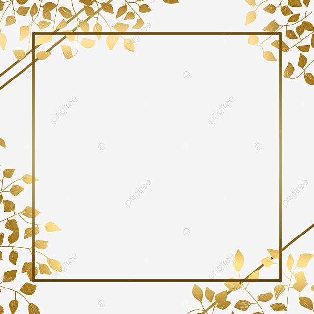 Golden Leaves Frame Border With Eucalyptus Flower Shape Decor Ornament Frame Png Transparent Clipart Image And Psd File For Free Download Ornament Frame Flower Frame Flower Shape