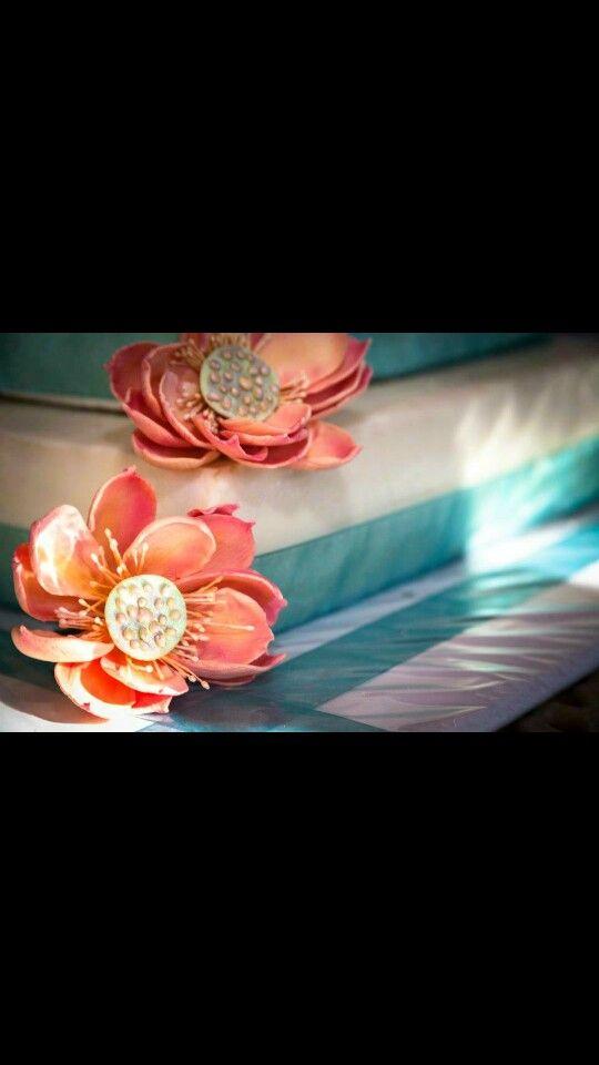 Gumpaste lotus blossom