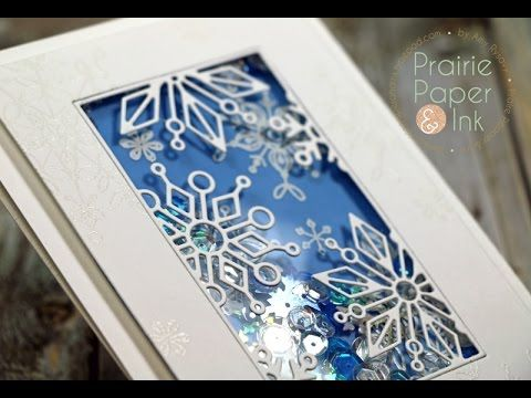 SSS Frozen Fractals Shaker Card + GIVEAWAY | AmyR 2016 Christmas Card Series #20- YouTube