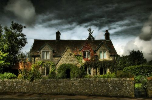 Childhood home of J.K. Rowling in the Forest of Dean near the border of England and Wales