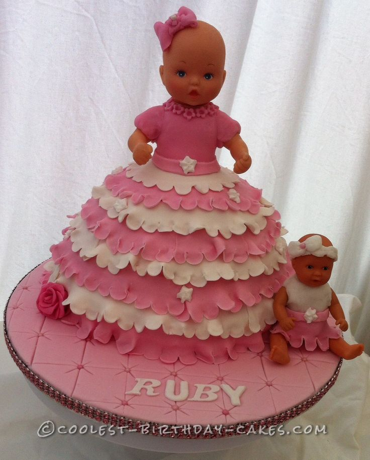 Sweet Baby Doll Cake... This website is the Pinterest of birthday cake ideas