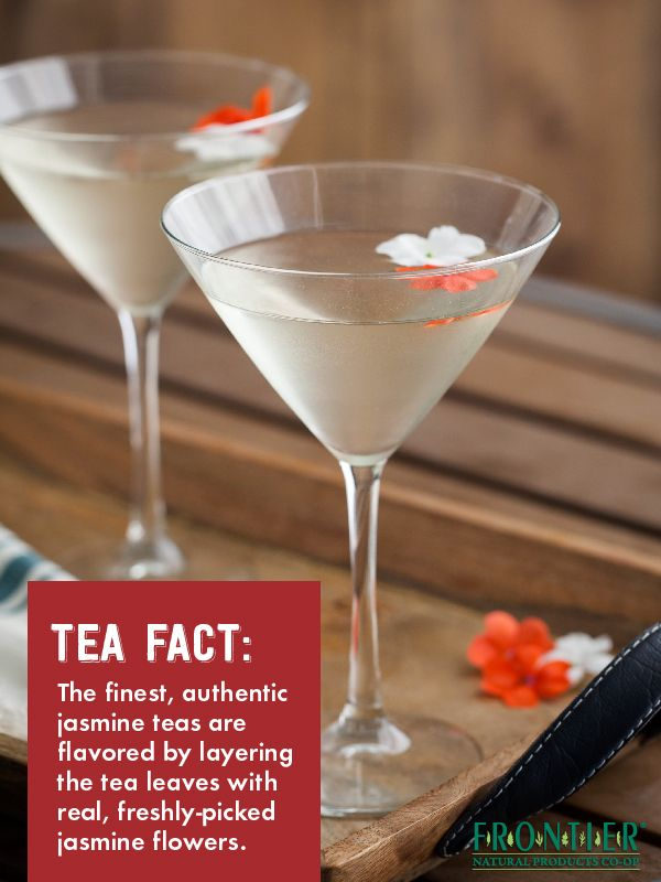 Dried green tea leaves are spread out with layers of fresh jasmine flowers to make Jasmine Tea, making this tea a sensual pleasure to drink.