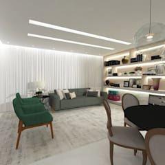 Salas de estilo moderno por LARISSA REIS ARQUITETURA