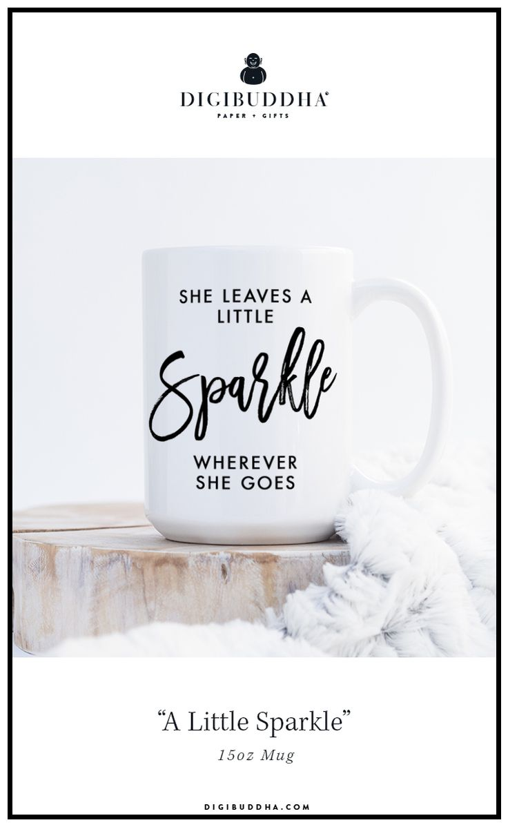 She Leaves A Little Sparkle Wherever She Goes Inspirational Quote Mug With Modern Brush Script Lettering The Perfect Mugs Paper Gifts Graduation Gifts For Her