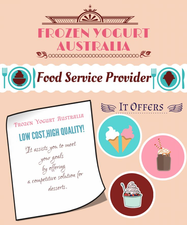 Food services provided by Frozen yogurt Australia are soft serve ice-cream bases of different flavour and a lot of blend options for Frozen yogurt. Besides this it is providing soft serve machine, frozen yogurt machine.