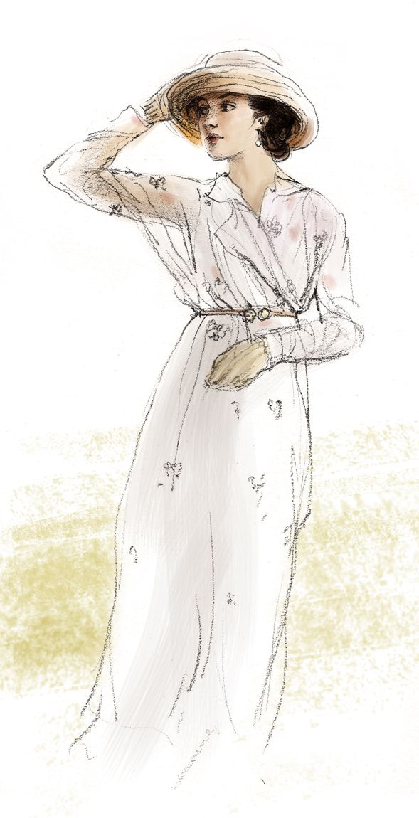 Gorgeous! Wish I could be this artistic! Sybil Crawley by polkapills on deviantART