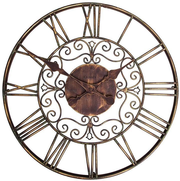 Chaney 16-in. scroll wall clock - indoor & outdoor
