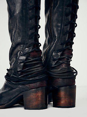 Coal Tall Boot