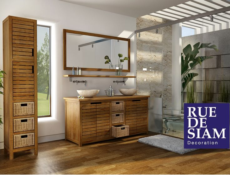 Les 25 meilleures id es de la cat gorie salle de bain teck - Traitement bois salle de bain ...