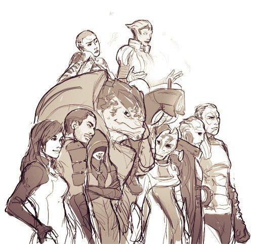 Mass Effect,фэндомы,ME art,Miranda Lawson,Jacob Taylor,Kasumi Goto,Jack,Grunt,Samara,Mordin,Legion,Thane,Zaeed
