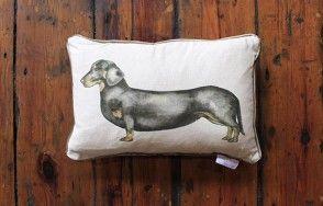 Dachshund cushion www.waringsathome.co.uk