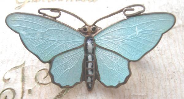 Silver enamel butterfly - Aksel Holmsen