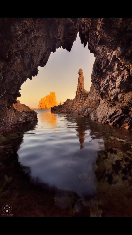 Arrecife de las sirenas.Cabo de Gata.  Almería.