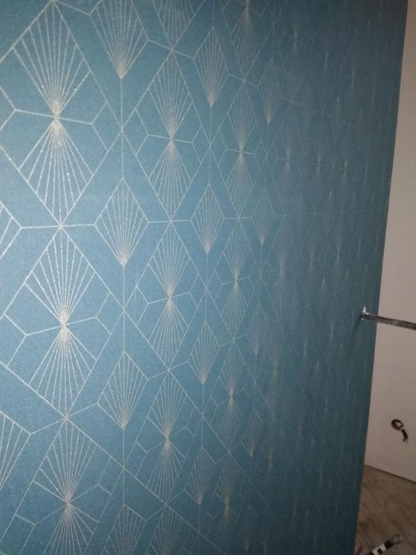 Papier Peint Expansé Diamant Bleu Doré Leroy Merlin