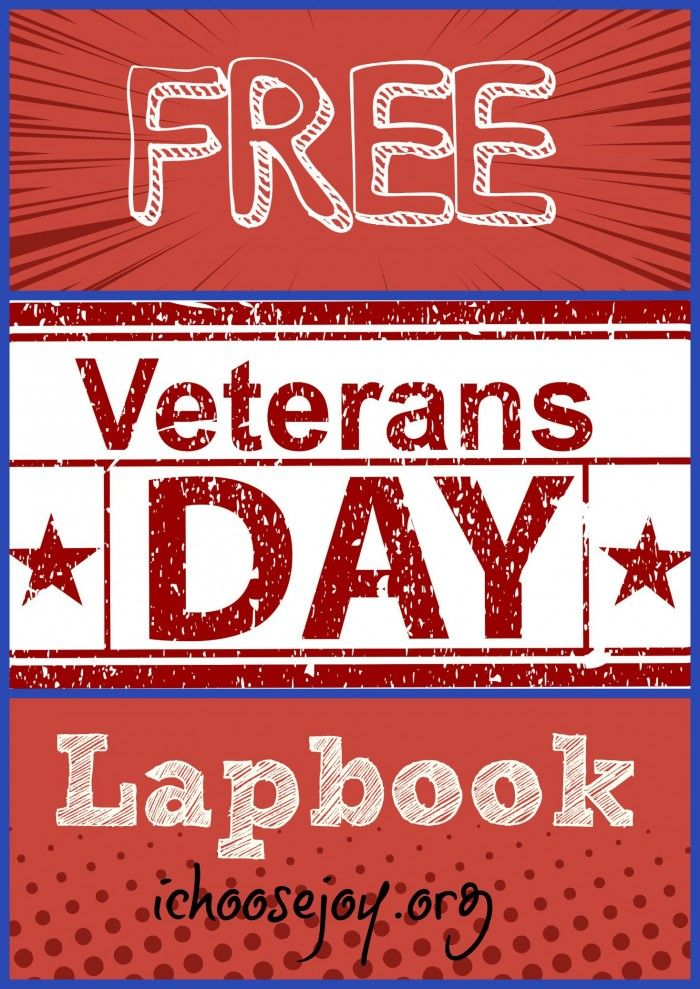 If you're looking for a FREE Veterans Day lapbook to do with your kids to help them understand Veterans Day, head over toichoosejoy.org to find ideas for