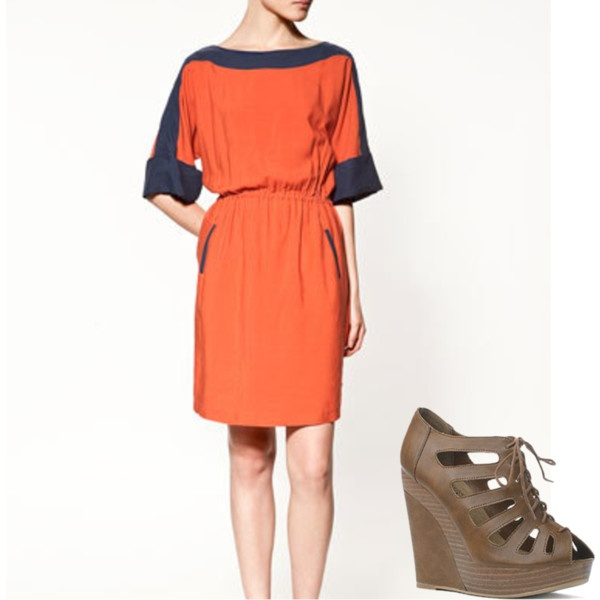 This  zara dress reminds me of the sporty colors used by  victoria beckham  this 4cf321e93323f