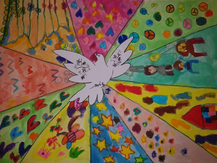 ομαδική ζωγραφική με θέμα την ειρήνη
