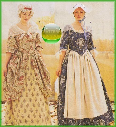 Butterick 3071 Ladies 18th Century Colonial Era Dress