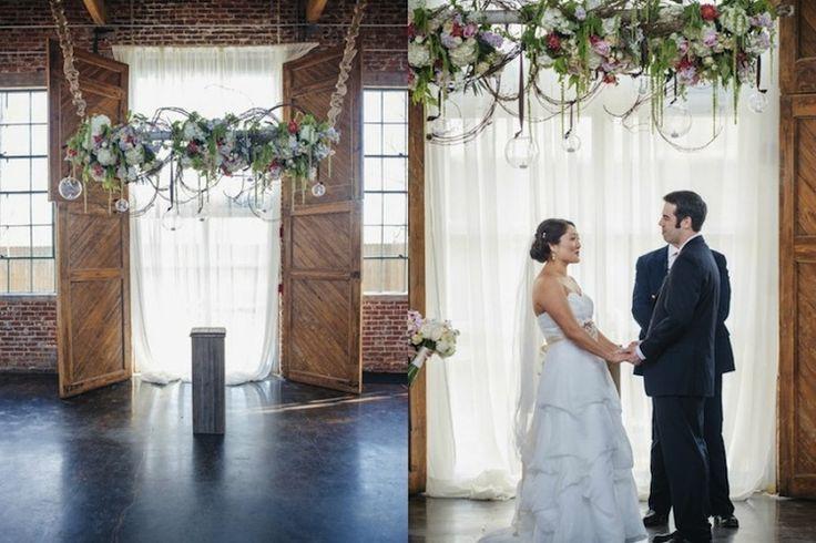 foundry at puritan mill wedding atlanta florist tulip blooming creations wedding ceremony. Black Bedroom Furniture Sets. Home Design Ideas