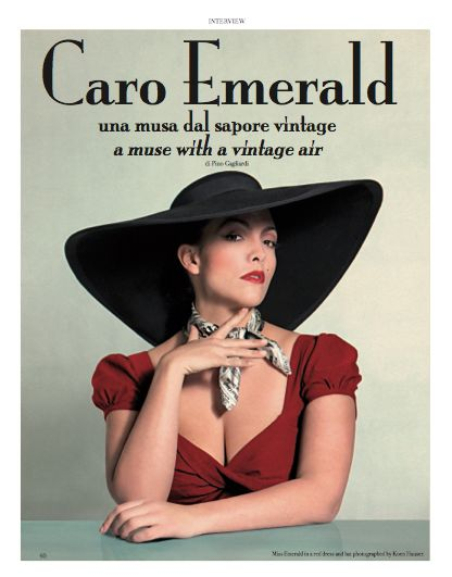 """Interview to Caro Emerald , a muse with vintage air. """"Whatever you choose to wear says something about you. I like revealing my personality through my clothes"""" said Caro Emerald. #CaroEmerald #vintage #clothes"""