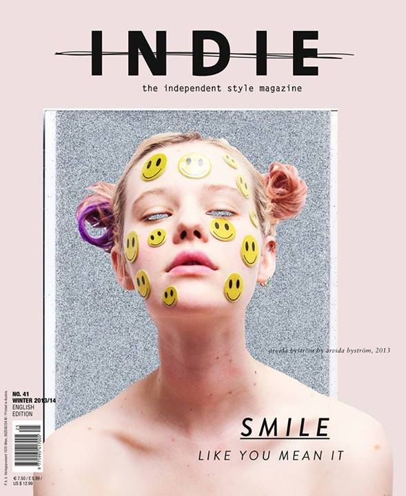 jujufootwear:  We love this amazing smiley INDIE MAG cover by super gal Arvida Bystrom.