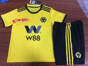 1b02aeedee2 2018-19 Cheap Youth Kit Wolves Home Replica Soccer Kids Suit [CFC830 ...