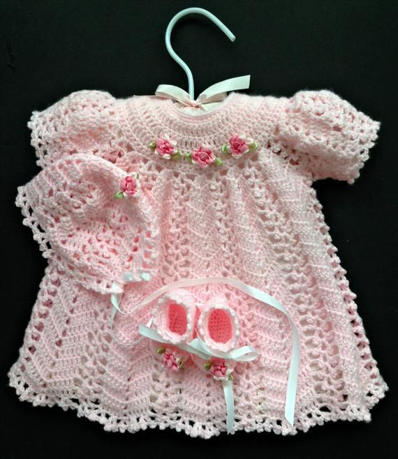 642004ea570e0 Baby Girl Coming Home Outfit in Pink with Dress Bonnet | Etsy ...
