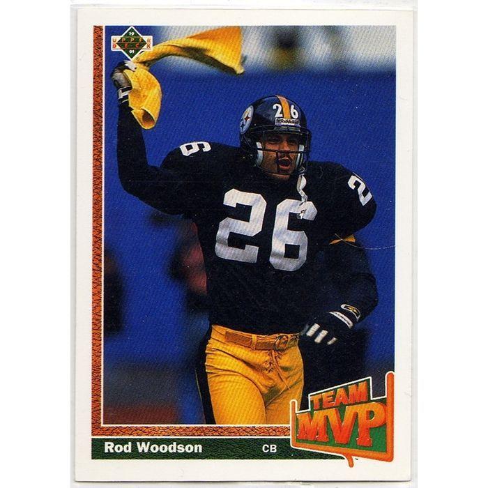 1991 PITTSBURGH STEELERS' ROD WOODSON UPPER DECK NFL TRADING CARD #473. Buy it on eBid Canada | 154682792