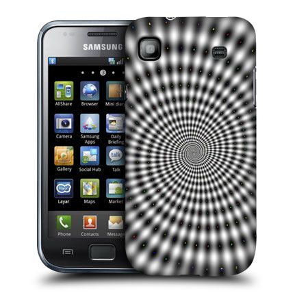 e_cell - Hypnotic Spinning Spiral Optical Illusion Design Case for Samsung Galaxy S I9000