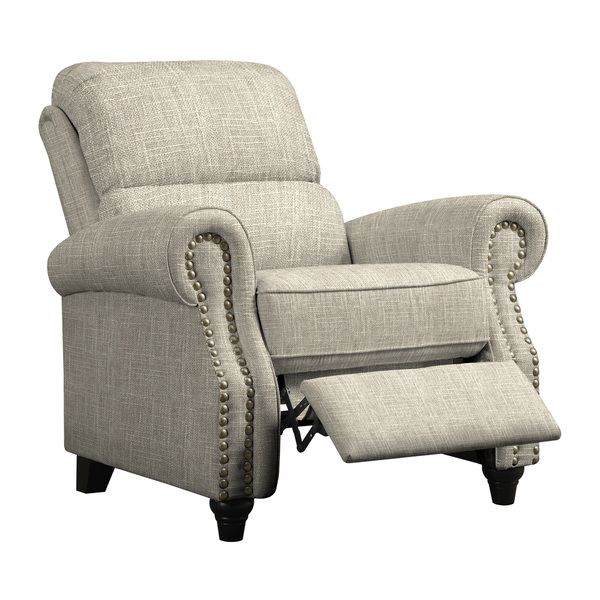 The ProLounger wall hugger recliner is covered in a linen-like barley tan fabric. Sit back and relax in this rounded arm reclining chair accented with ...  sc 1 st  Pinterest & Best 25+ Farmhouse recliner chairs ideas on Pinterest | Farmhouse ... islam-shia.org