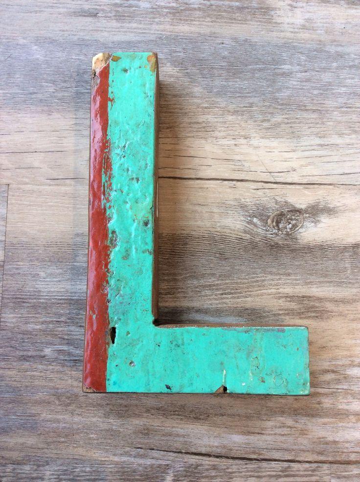"""Letter L - Retired Bali Fishing Boat Furniture - 7""""x4"""" - #10198-L"""