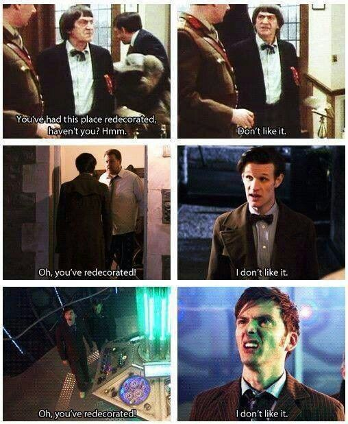 Doctor Who The only Tv show to keep the same jokes running for 50 years.