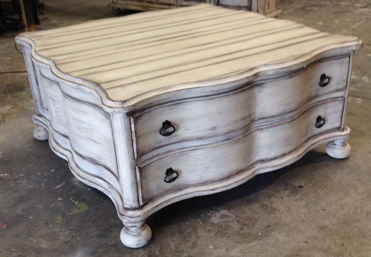 Coffee Table Antique White Finish Pinterest
