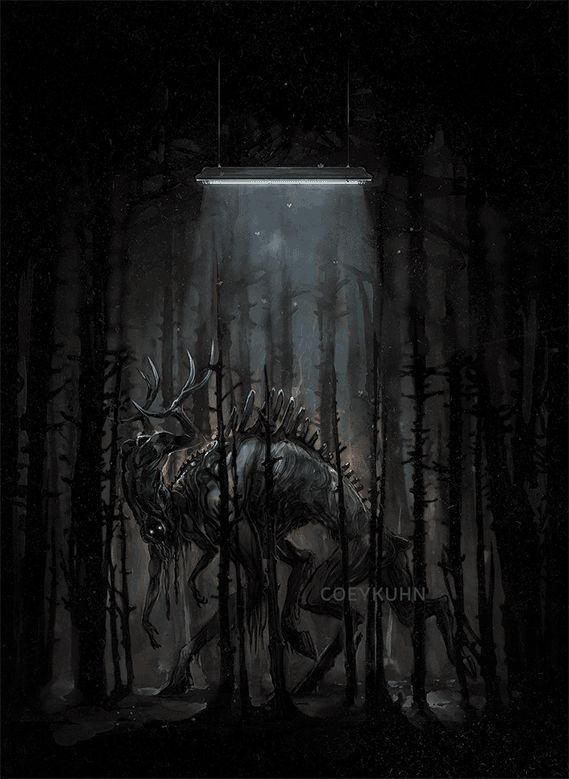 If you haven't watched The Ritual yet on Netflix you really should. One of the best movie monsters I've seen in years.  Had a harsher light flicker but decided to change, didn't want to upset anyone with photosensitive conditions.  NON GIF VERSION...