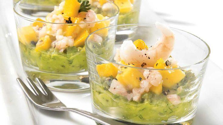 Salsa de crevettes et mangue