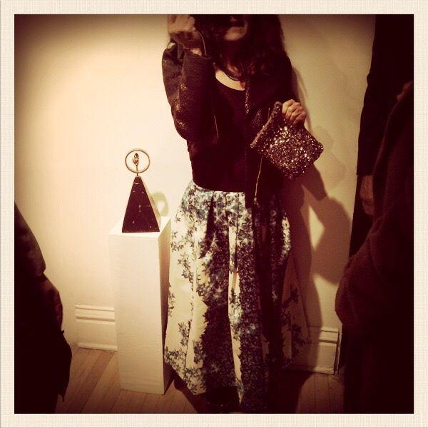 Divine Carla in Tibi Full Skirt