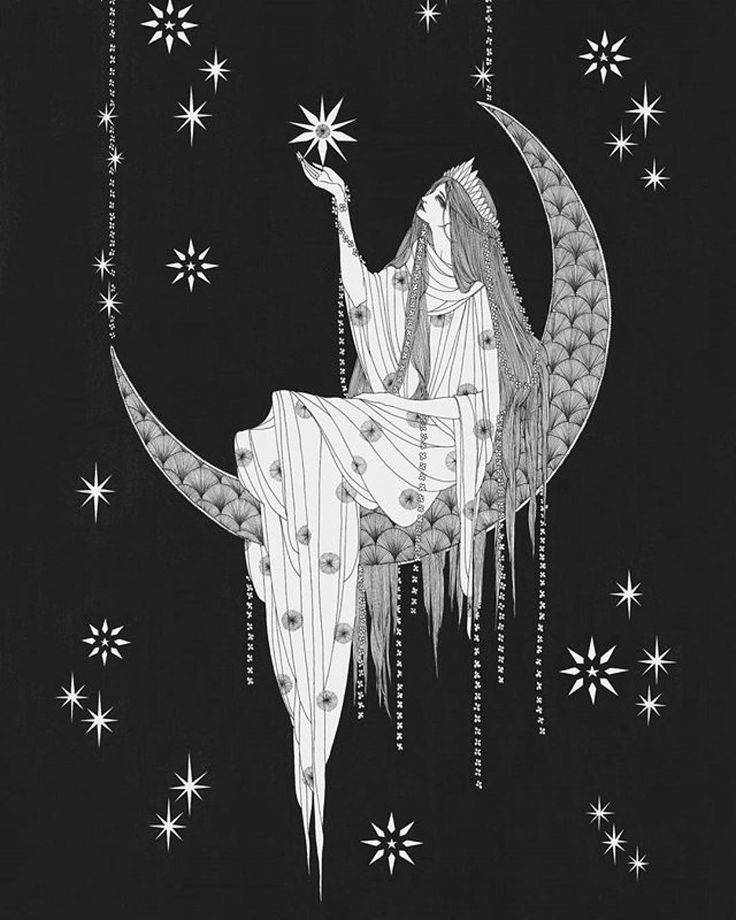 """166 Likes, 2 Comments - (OvO) (@liquidnight) on Instagram: """"Current mood: wishing on the waxing crescent via """"La Luna"""" by @marina.mika ・・・ #Repost ・・・"""""""