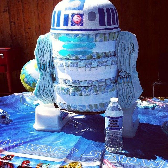 """""""Lucas (Luke) baby shower. Thanks @lindsay462 #starwars #R2D2 #babyshower"""""""