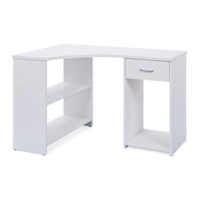 Bureau D Angle Blanc Magnifique Bureau Dangle Blanc Avec Rangements 118 X 75x 79cm Comfortable Furniture Desk Home Trends