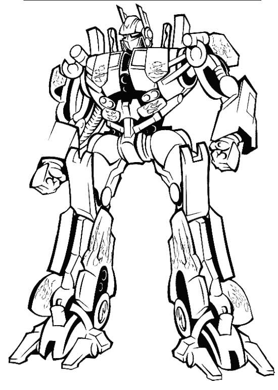 Prime Transformers Coloring Page | Coloring Pages