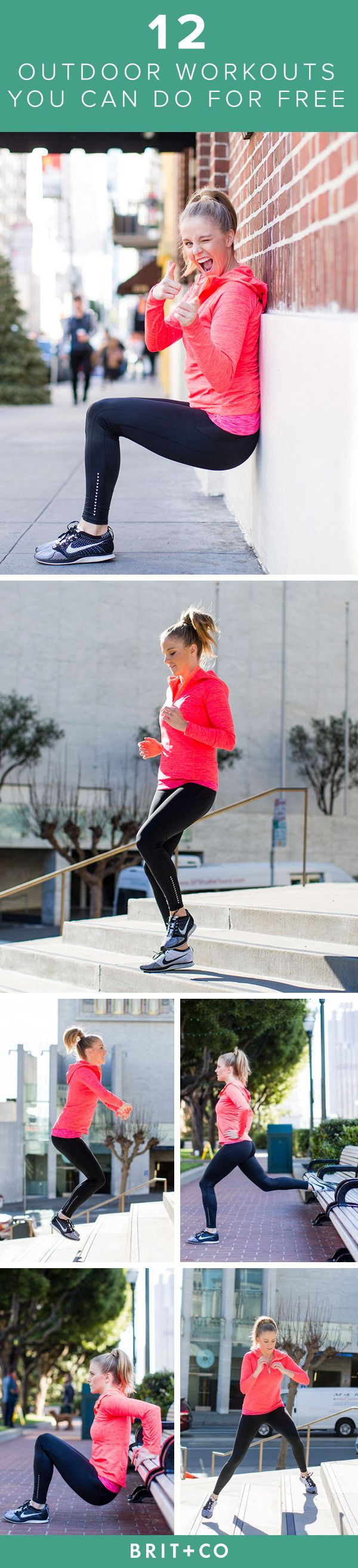 Bookmark this + add 12 *FREE* outdoor exercises to your workout routine.