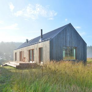 MNy+Arkitekter+uses+seven+types+of+timber+for+Finnish+lake+house