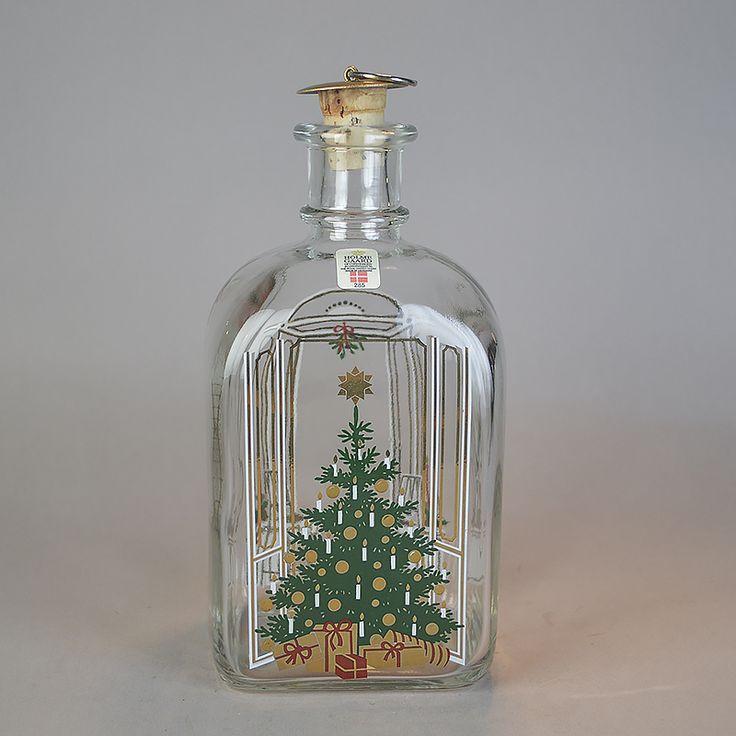 Juleflaske 1985. 70 cl fra Holmegaard Glasværk.