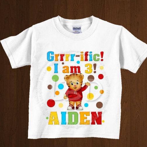 Daniel Tiger Birthday Shirt Image, Party Printables, Birthday Image - YOU PRINT on Etsy, $5.99