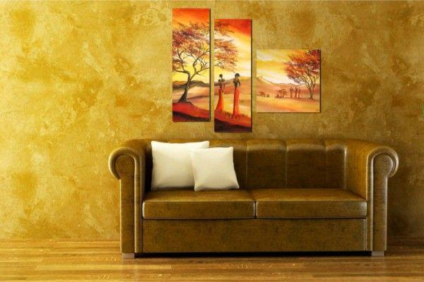 Afrikai hangulat az otthonodban modern kézzel festett vászonképekkel