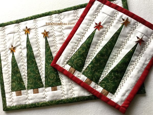 The Three Christmas Trees - pattern at francenadeau.com