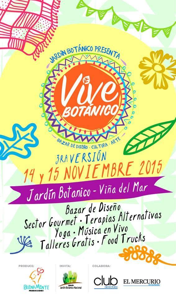 Estamos muy contentos ya que hemos sido invitados a participar en Vive Botánico, tercera versión. los invitamos a visitarnos en nuestro stand este 14 y 15 de Noviembre